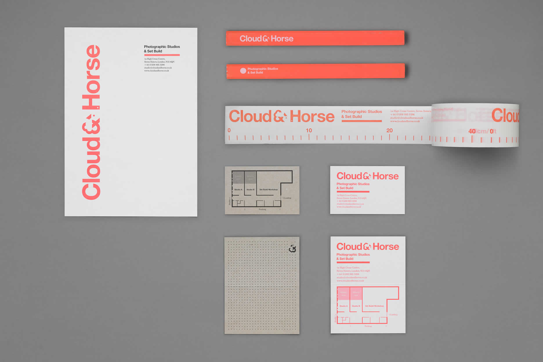 Cloud & Horse business card redesign